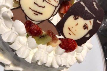 お誕生日などのお祝いに似顔絵ケーキ