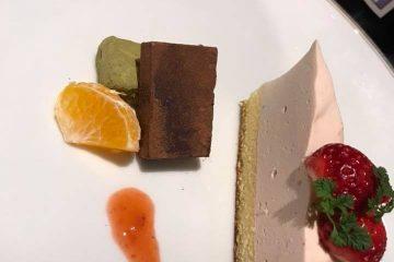 いちごのレアチーズケーキバレンタインバージョン