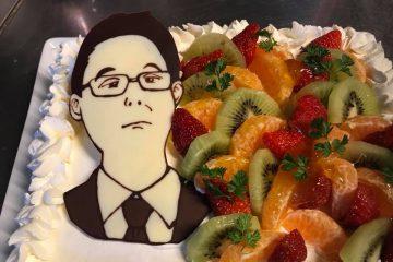 歓迎会も似顔絵ケーキでサプライズ!!
