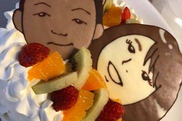 似顔絵ケーキ主役が2人いても大丈夫!!