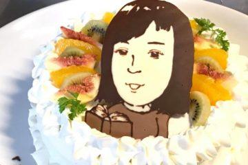 大人数でも似顔絵ケーキ