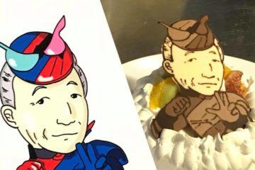 秋もやっぱり似顔絵ケーキ