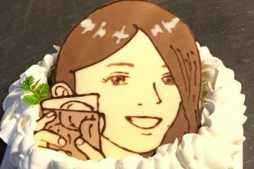 秋も似顔絵ケーキ