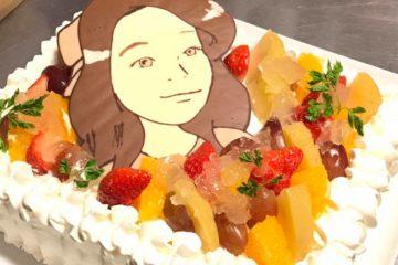 似顔絵ケーキで忘れられないサプライズを!!