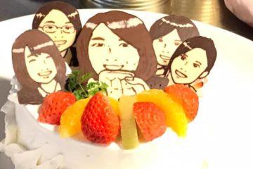 ご要望にお応えして、あなただけのオリジナル似顔絵ケーキを作ります!!
