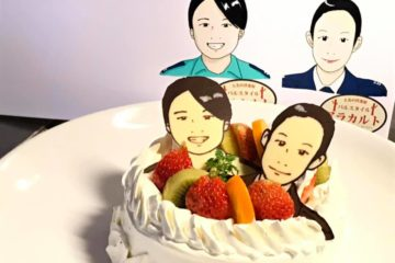 福岡のサプライズはアラカルトの似顔絵ケーキを!!