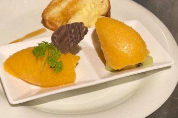 みかんのソルベと柿のソルベ